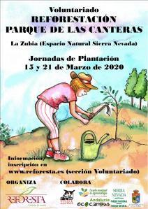 Cartel Canteras REFORESTA marzo 20