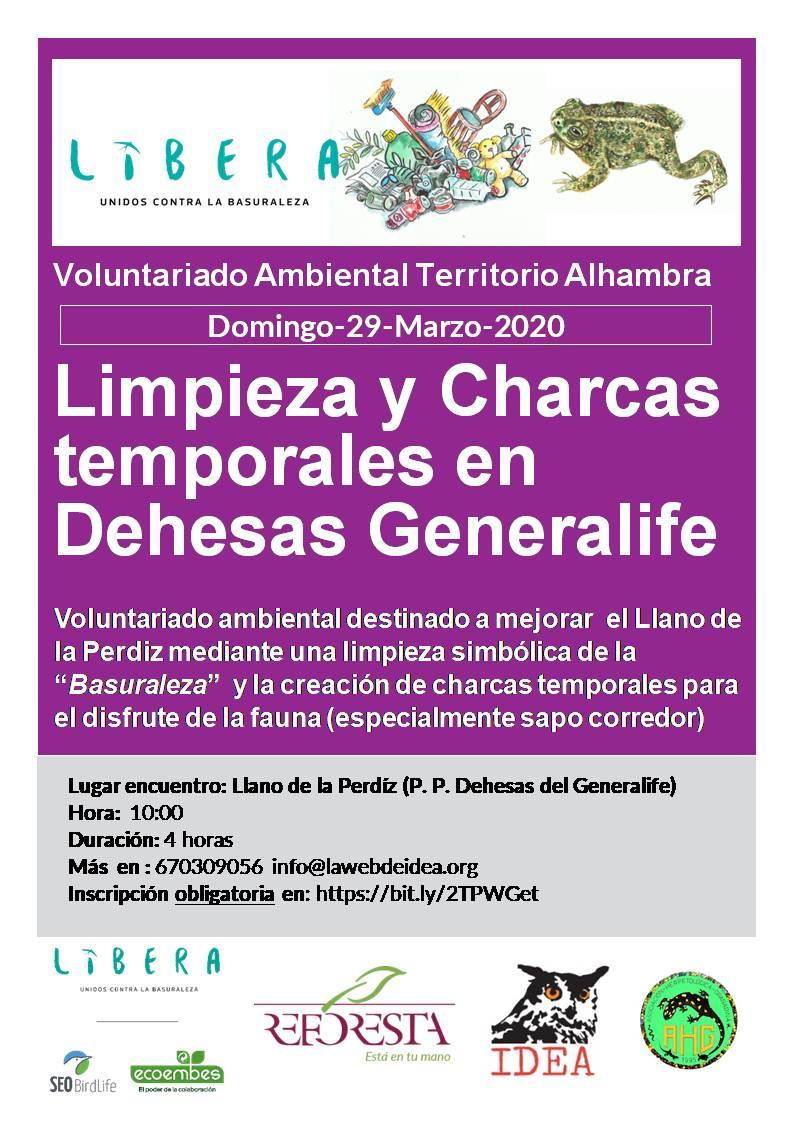 CARTELES 29-03-20 Limpieza y Charcas Libera